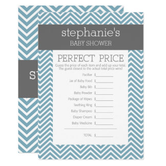 Pastel Blue Baby Shower Game - Perfect Price Card