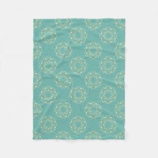 Pastel blue dandelion blanket, soft fleece