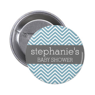 Pastel Blue & Gray Baby Shower Suite Pin