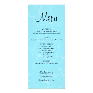 Pastel Blue Subtle Abstract Background Wedding Custom Rack Card