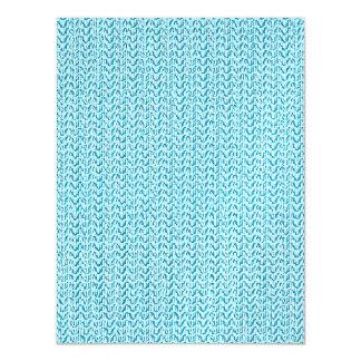 Pastel Blue Weave Mesh Look Magnetic Card