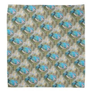 Pastel Bluebird Patterned Bandana
