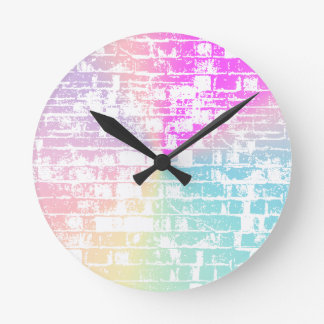 Pastel Bricks Clock