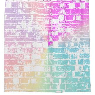 Pastel Bricks Shower Curtain