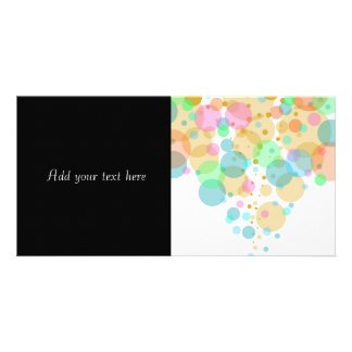 Pastel Bubbles Circles in Pastels Photo Cards
