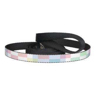 Pastel Checkers Dog Leash