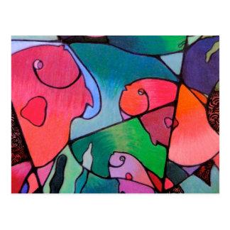 Pastel Fish Postcard