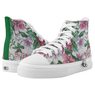 Pastel Flower Print Printed Shoes