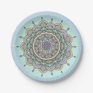 Pastel Glow Mandala ID359 Paper Plate