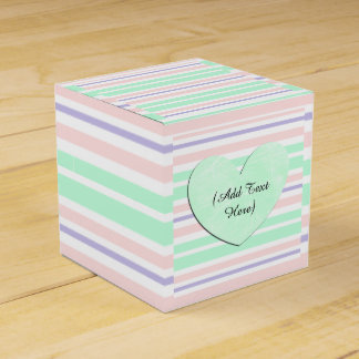 Pastel Green Pink Purple Personalized Favor Box Party Favour Boxes
