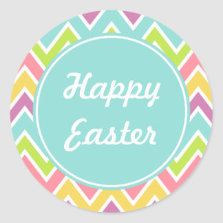 Pastel Happy Easter Stickers
