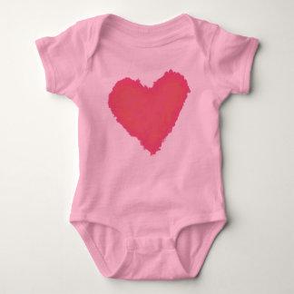 Pastel Heart Baby Bodysuit