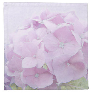 Pastel Hydrangea Flowers Napkin