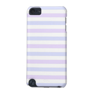 Pastel Lilac, Blue and White Stripes iPod Touch (5th Generation) Case