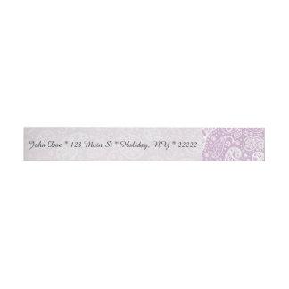 Pastel Lilac Spring Paisely Wraparound Address Label
