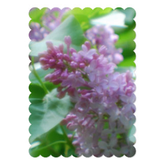 Pastel Lilacs 5x7 Paper Invitation Card