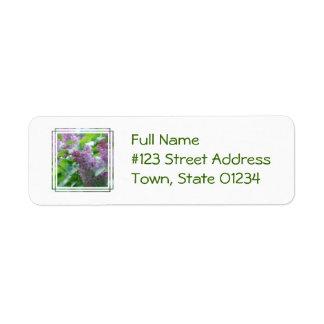 Pastel Lilacs Return Address Label