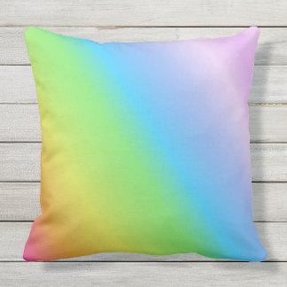 Pastel Linear Rainbow Outdoor Cushion