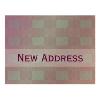 pastel mauve New Address Postcard