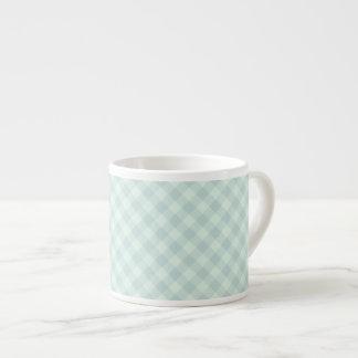Pastel Mint Tartan Espresso Cup