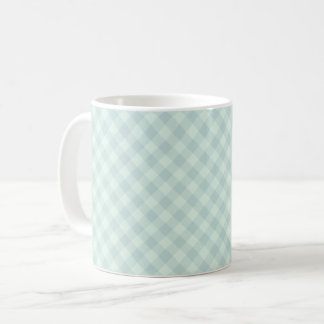 Pastel Mint Tartan Mug