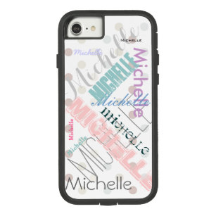 Pastel Name Polka Dot Case-Mate Tough Extreme iPhone 8/7 Case