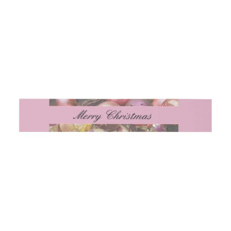 Pastel Ornaments Christmas Invitation Belly Band