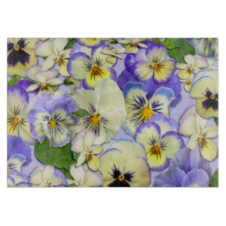 Pastel Pansies Cutting Board