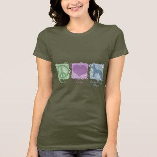 Pastel Peace, Love, and Carolina Dogs T-Shirt