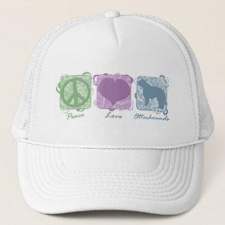 Pastel Peace, Love, and Otterhounds Trucker Hat