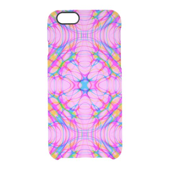 Pastel Pink Kaleidoscope Pattern Abstract Clear iPhone 6/6S Case