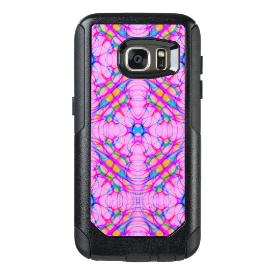 Pastel Pink Kaleidoscope Pattern Abstract OtterBox Samsung Galaxy S7 Case