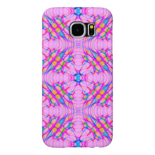 Pastel Pink Kaleidoscope Pattern Abstract Samsung Galaxy S6 Cases