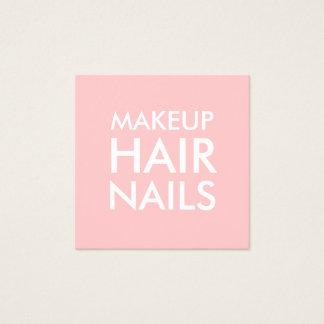 Pastel pink makeup artist / salon business card