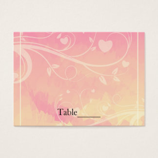 Pastel Pink & Pale Yellow Watercolor Love Business Card