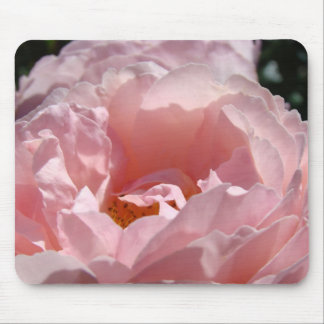 Pastel Pink Rose Flower mousepad Holiday gifts
