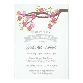 "Pastel Pink Sakura Spring Bridal Shower Invite 5"" X 7"" Invitation Card"