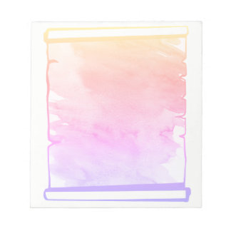 Pastel Pink Watercolor Scroll Planner Add On Notepads
