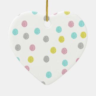 Pastel Polka Dots Christmas Ornament