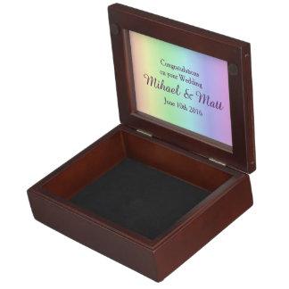 Pastel Pride Grooms' Memento Box Gay Wedding Gift Memory Box