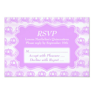 Pastel Purple Carriages Quinceanera Card
