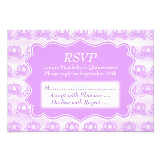 Pastel Purple Carriages Quinceanera Personalized Invitations