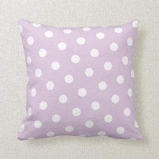 Pastel Purple Polka Dot Pillow