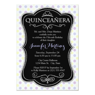 Pastel Purple, Yellow, and White Polka Dots Personalized Invite