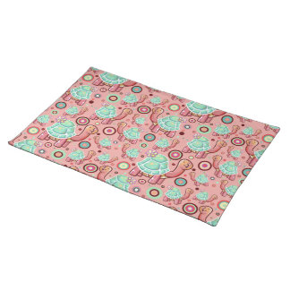 Pastel Shell Flower Tortoise Pattern Placemat