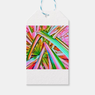 Pastel Spider Plant Leaves Gift Tags