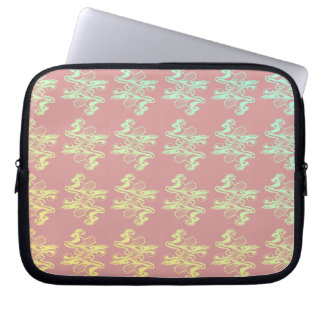 Pastel swirl laptop case