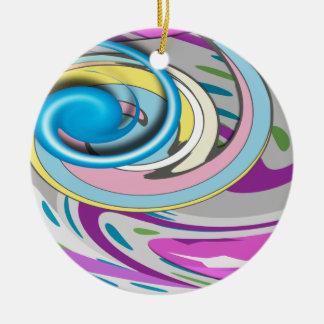 Pastel Swirls Christmas Ornament