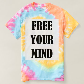 Pastel Tie Dye Free Your Mind T shirt Hippie Style