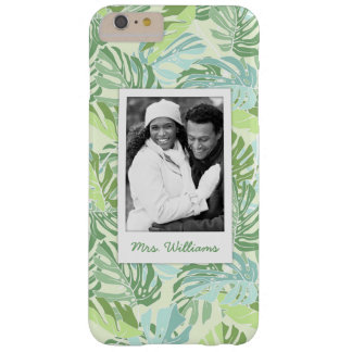 Pastel Tropical Palm | Add Your Photo & Name Barely There iPhone 6 Plus Case